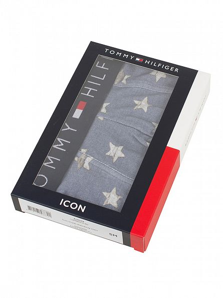 Tommy Hilfiger Faded Denim Icon Chambray Stars Print Trunks