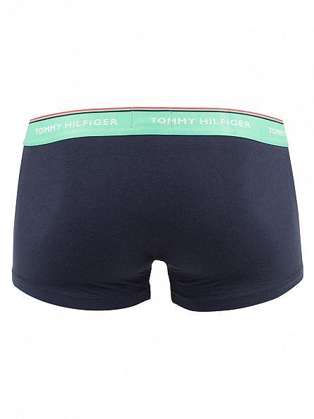 Tommy Hilfiger River Blue/Jade Cream/Sea Pink 3 Pack Premium Essentials Low Rise Trunks