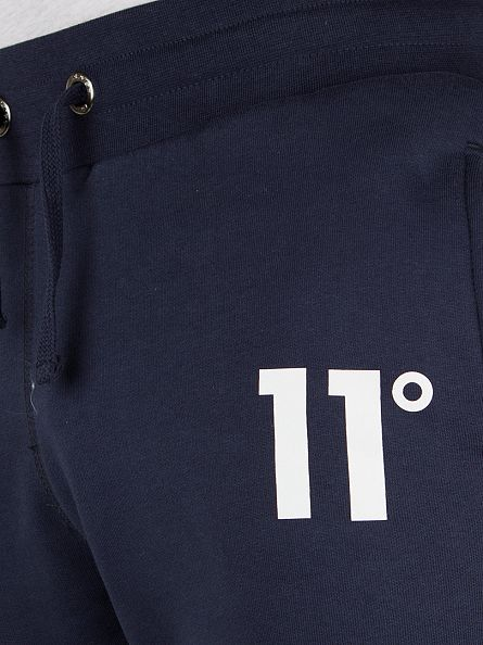 11 Degrees Navy Logo Sweat Joggers