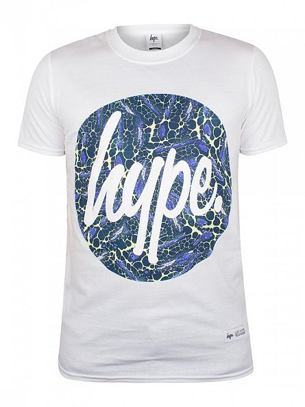Hype White Rocks Circle Logo T-Shirt