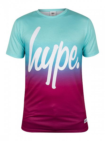 Hype Blue Fade Logo T-Shirt