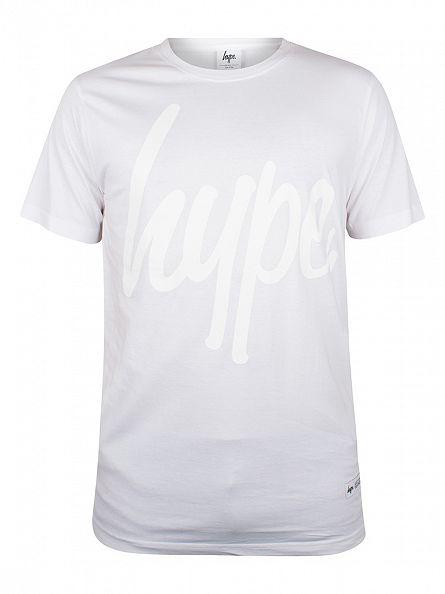 Hype White/White Script Logo T-Shirt