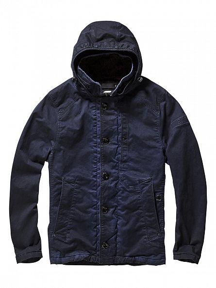 G-Star Imperial Blue/Mazarine Blue Garber HDD Short Trench Jacket