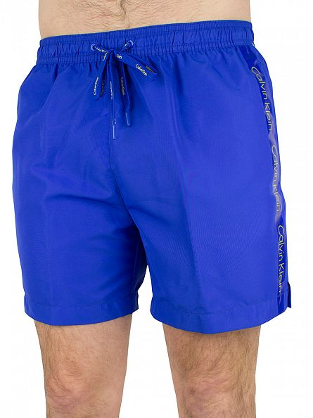 Calvin Klein Royal Blue/Blazing Yellow Medium Drawstring Logo Swimshorts