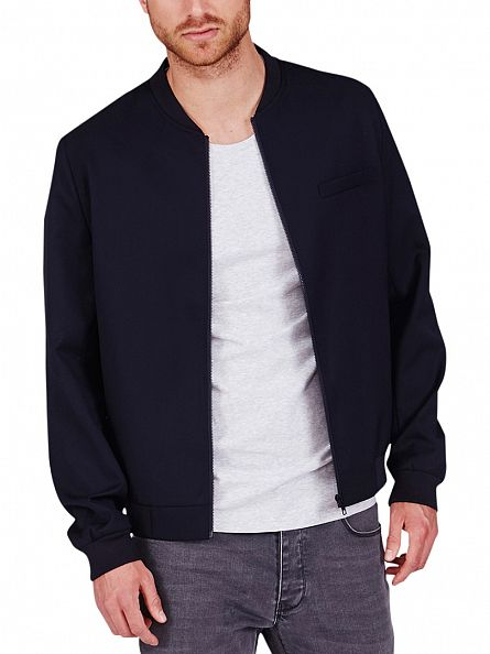 Minimum Navy Blazer Tom Zip Jacket