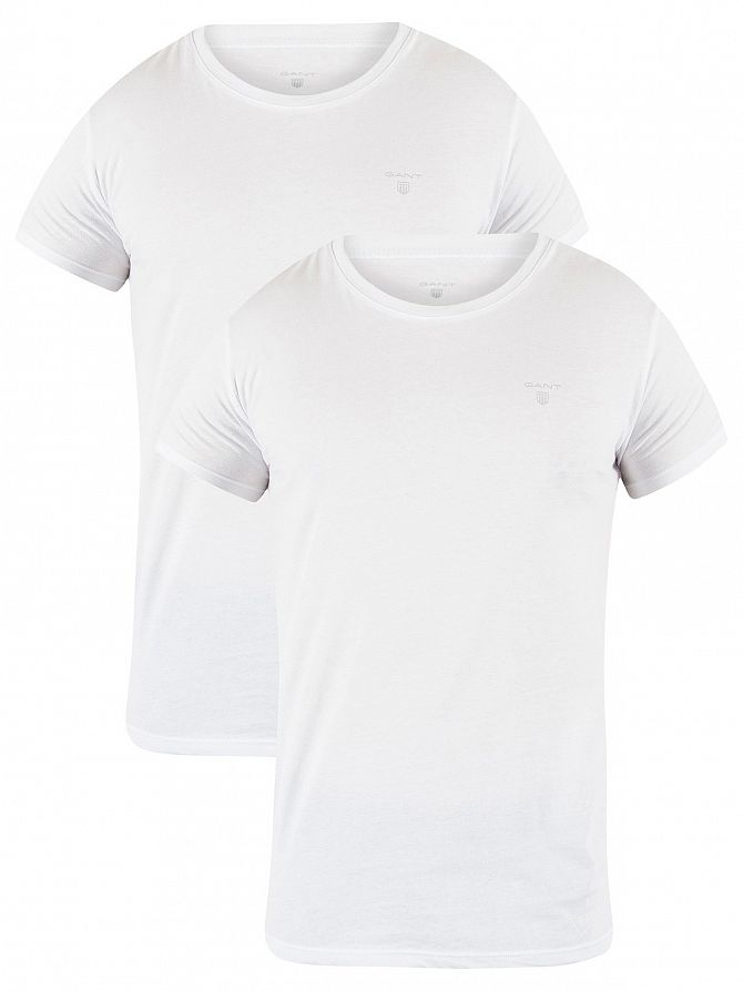 Gant White 2 Pack Logo T-Shirts