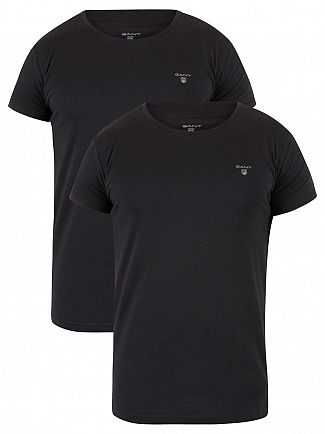 Gant Black 2 Pack Logo T-Shirts