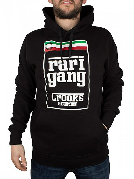 Crooks & Castles Black Rari Gang Graphic Hoodie