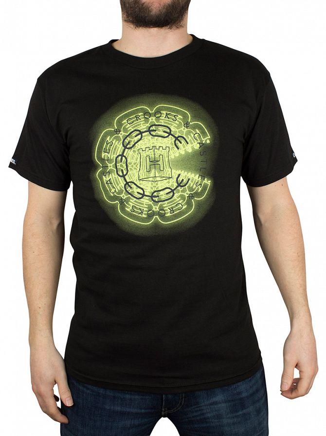Crooks & Castles Black Mirrors Depth Graphic T-Shirt