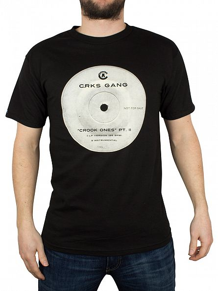 Crooks & Castles Black Crook Ones Vinyl Graphic T-Shirt