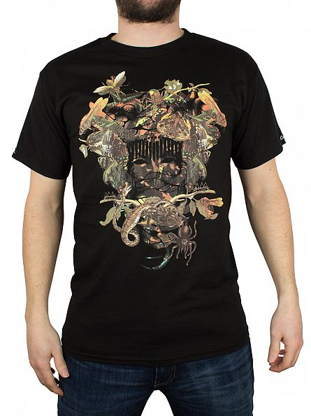 Crooks & Castles Black Wild Medusa Graphic T-Shirt