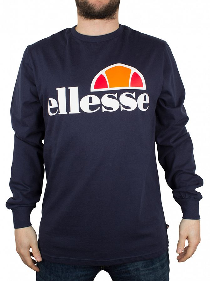 Ellesse Dress Blues Bianchi Longsleeved Logo T-Shirt