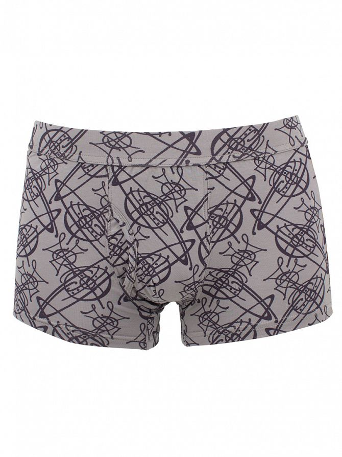 Vivienne Westwood Grey All Over Logo Boxer Trunks
