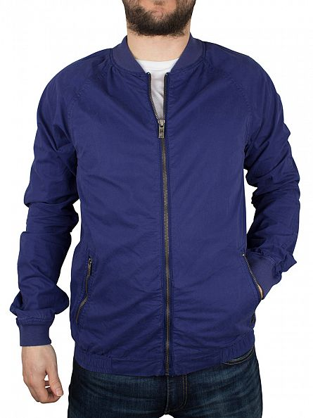 Scotch & Soda Cobalt Dyed Bomber Jacket