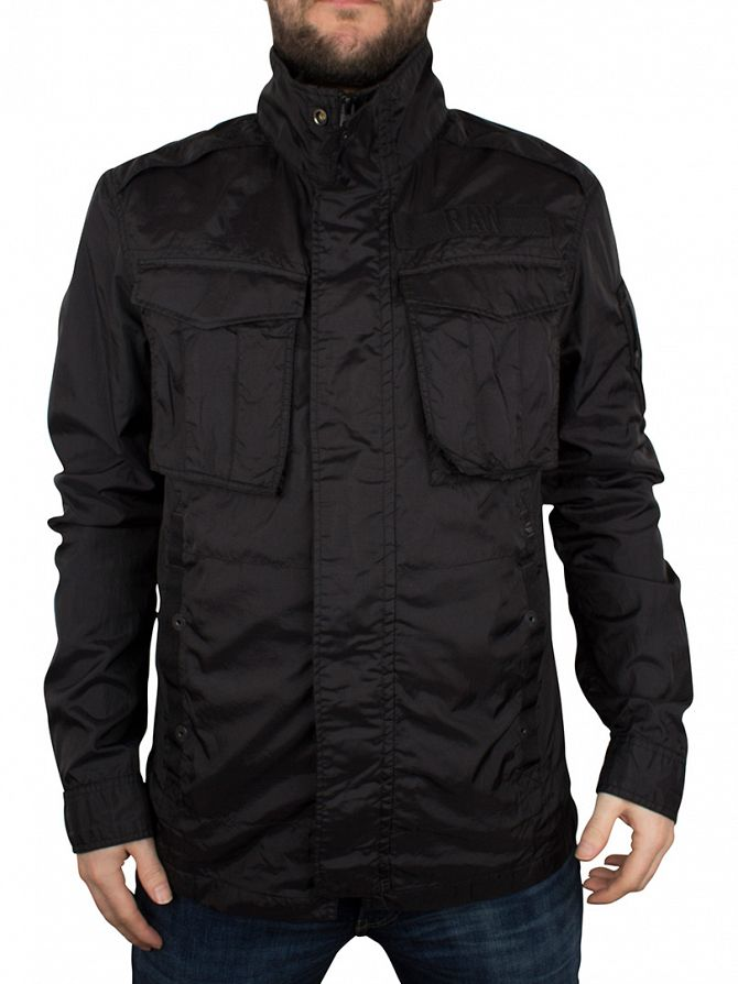 G-Star Black Rovic Overshirt Zip Jacket
