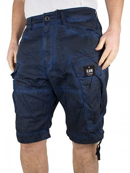 G-Star Hudson Blue/Imperial Blue Rovic Loose Dye Cargo Shorts