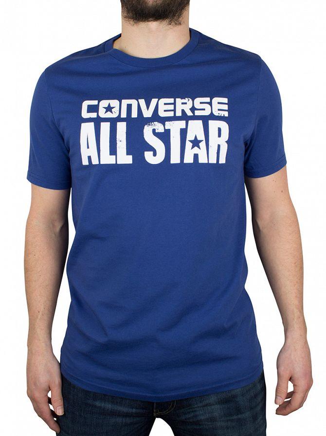 Converse Roadtrip Blue All Star Cracked Logo T-Shirt