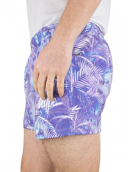 Hype Multi Blue Palm All Over Print Shorts