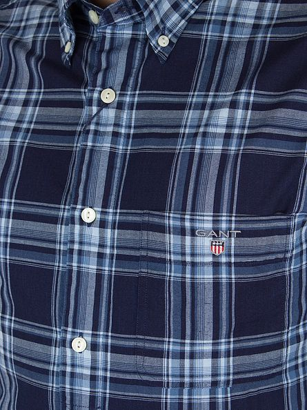 Gant Marine Telltail Madras Fitted Checked Shirt
