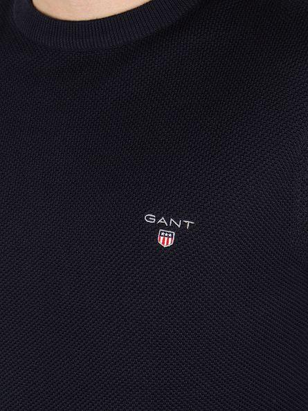 Gant Evening Blue Pique Logo Sweatshirt
