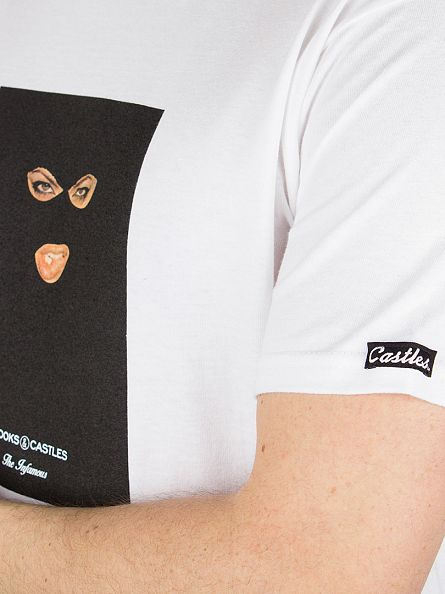 Crooks & Castles White Eyes & Lips Tracklist Tape T-Shirt