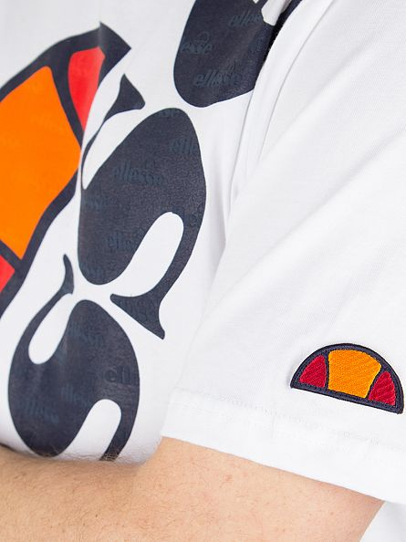 Ellesse Optic White Bettona Slanted Logo T-Shirt