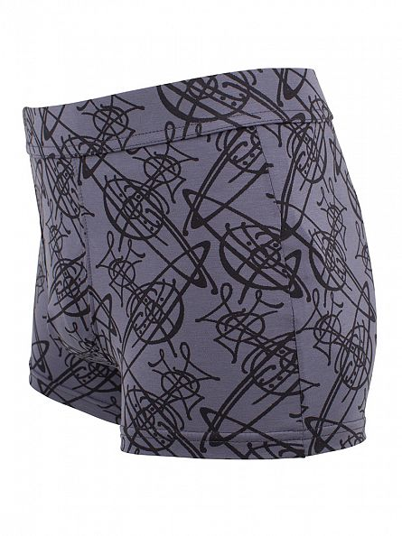 Vivienne Westwood Blue All Over Logo Boxer Trunks