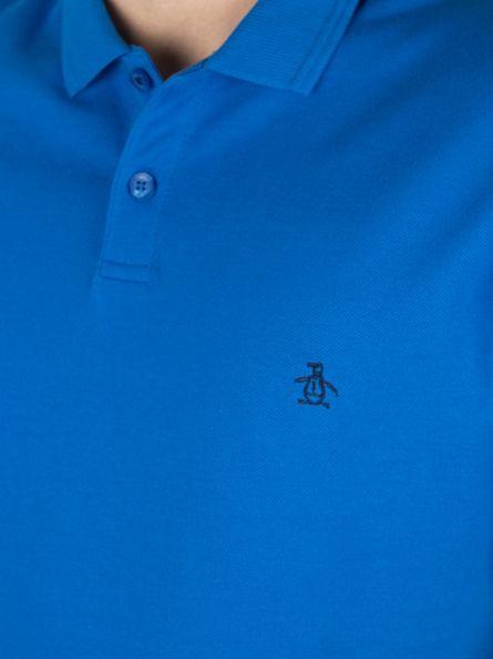 Original Penguin Directoire Blue Winston Logo Slim Fit Polo Shirt