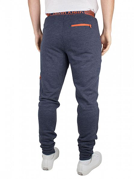 Calvin Klein Blue Shadow Logo Rear Waistband Joggers