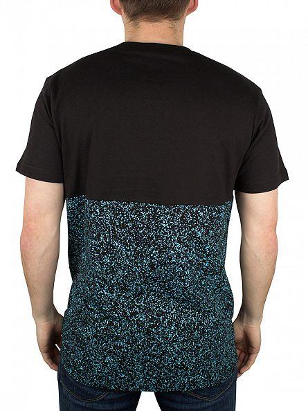 Nicce London Black/Turquoise Half Noise Logo T-Shirt