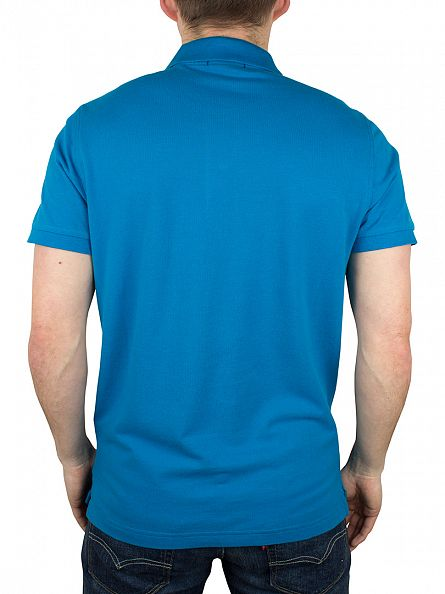 Gant Teal Blue Original Pique Rugger Polo Shirt