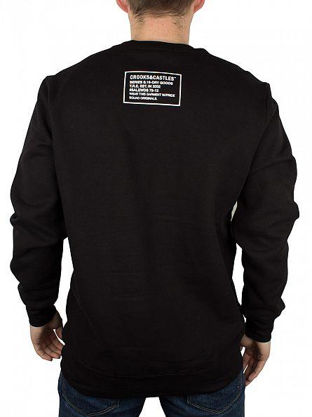 Crooks & Castles Black Medusa Chain 2.0 Graphic Sweatshirt