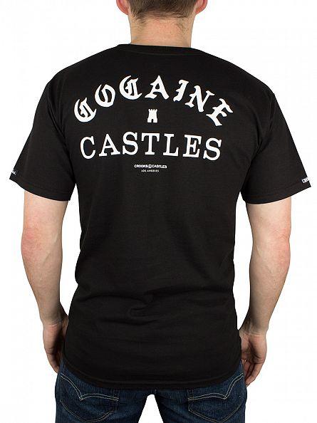 Crooks & Castles Black Four Cees Arch Logo T-Shirt