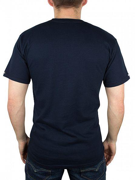 Crooks & Castles Navy Medusa Speckle Tiger Snakes T-Shirt