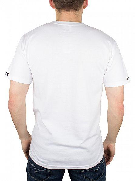 Crooks & Castles White Tiger Speckle Logo T-Shirt