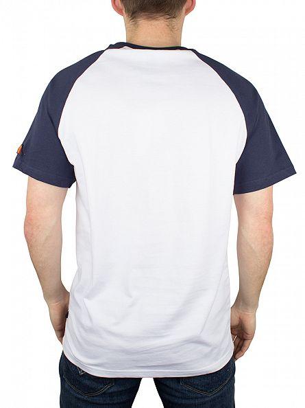 Ellesse Optic White/Dress Blue Scanno Raglan Logo T-Shirt