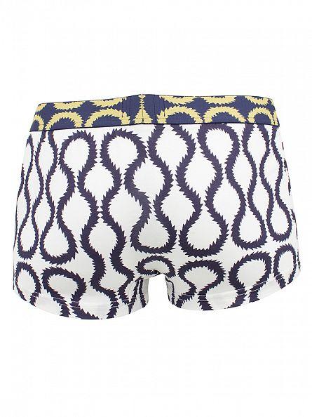 Vivienne Westwood White/Blue Jagged Edge Print Boxer Shorts