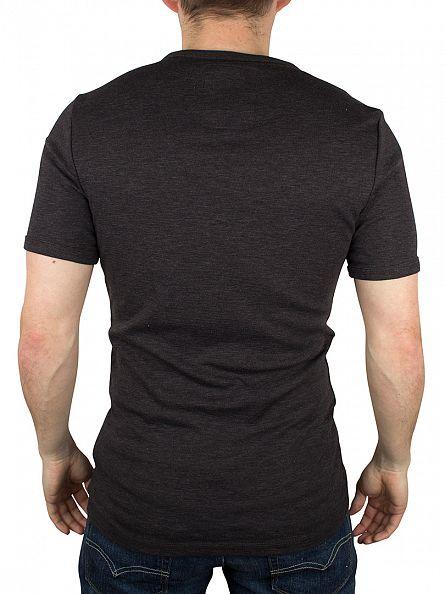G-Star Black Ramic Slim Fit Grandad Marled T-Shirt