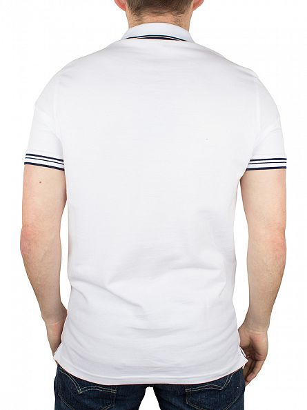 Foray White Vera Tipped Pocket Logo Polo Shirt