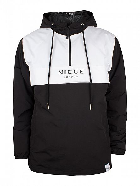 Nicce London Black Team Kougle Hooded Panel Jacket