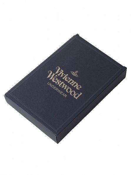 Vivienne Westwood Navy Plain Logo Waistband Boxer Trunks