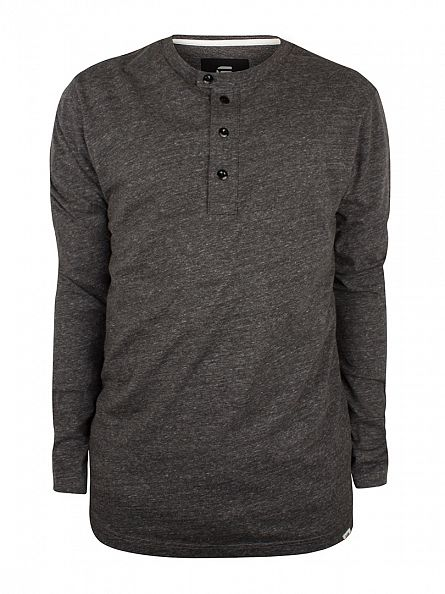 G-Star Black Heather Riban Grandad Longsleeved Marled T-Shirt
