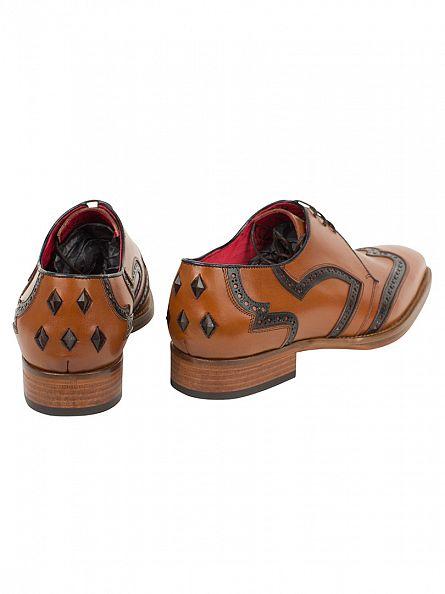 Jeffery West Camel/Dark Blue Box Anricato Shoes