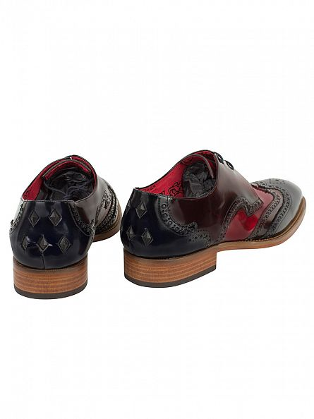 Jeffery West Dark Blue/Burgundy College Shoes