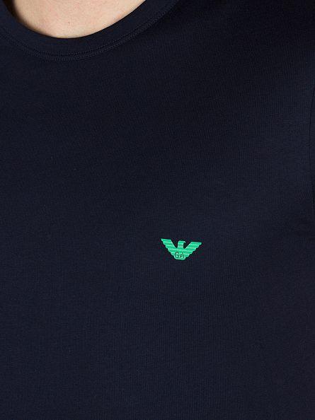 Emporio Armani Marine/White 2 Pack Plain Logo T-Shirts