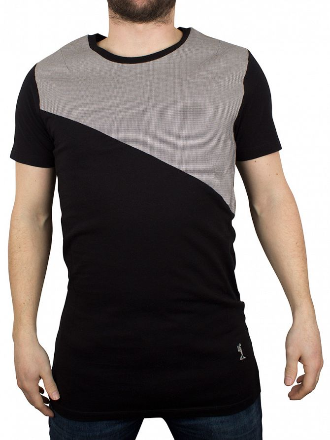 Religion Black/Grey Molly Diagonal Panel Pattern T-Shirt