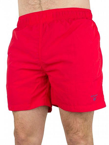 Gant Bright Red Classic Logo Swim Shorts