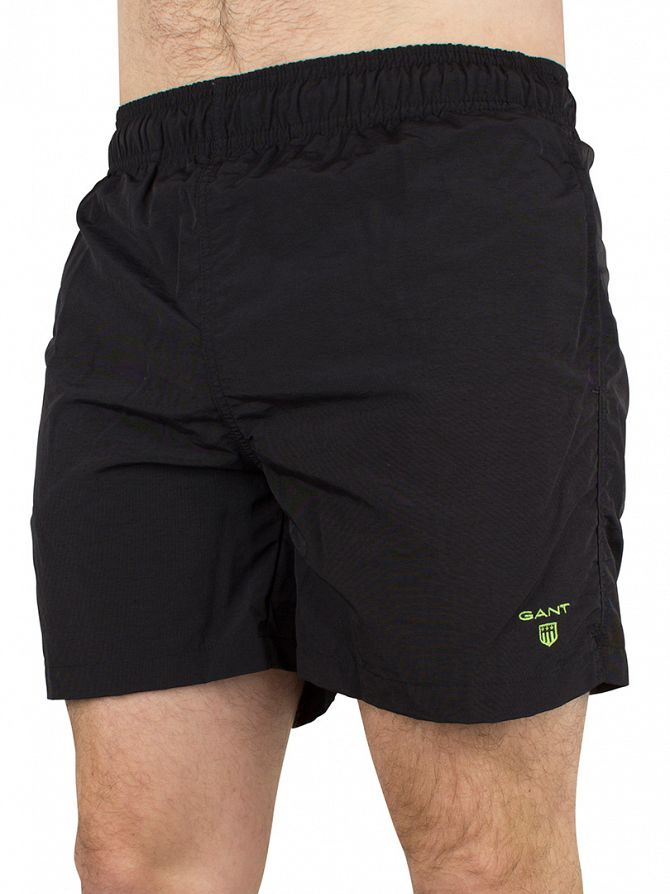 Gant Black Classic Logo Swim Shorts
