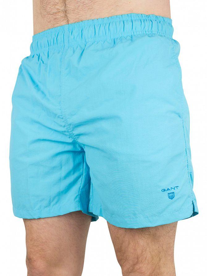 Gant Aquarius Light Blue Classic Logo Swim Shorts