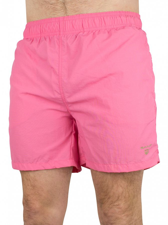 Gant Lipstick Pink Classic Logo Swim Shorts